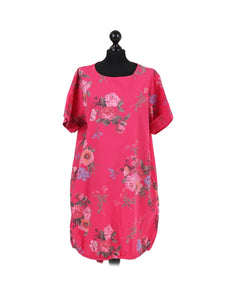 Italian Floral Cotton Dress