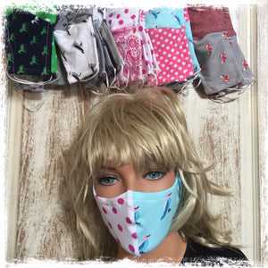 Washable Cotton Face Masks 4 Pack