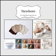 Newborn Session Items - Wraps, Rompers, Drops, Bowls and Saftey