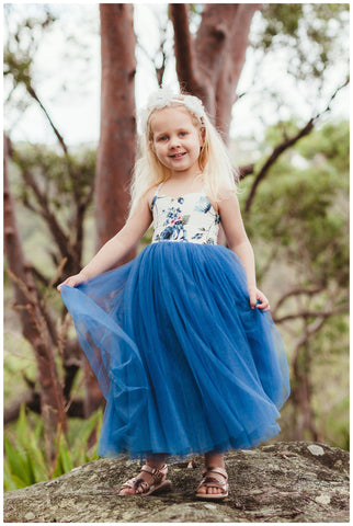 RENTAL - Ruby Tulle Girls Dress size 3