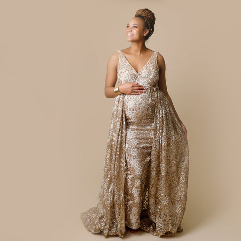 Glory Gown with beaded train