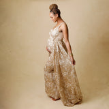 RENTAL - Glory Gown with beaded train (16-18)