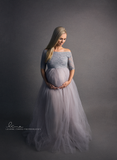 New Mama Tulle Gown - Grey - Average (AUS 10-14)