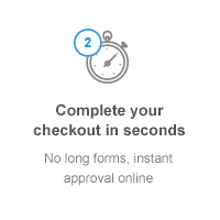 Complete your checkout in seconds