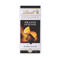 Lindt Dark orange intense 100g block
