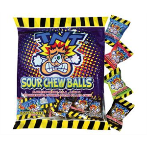 TNT Sour Chew Balls - 150g bag