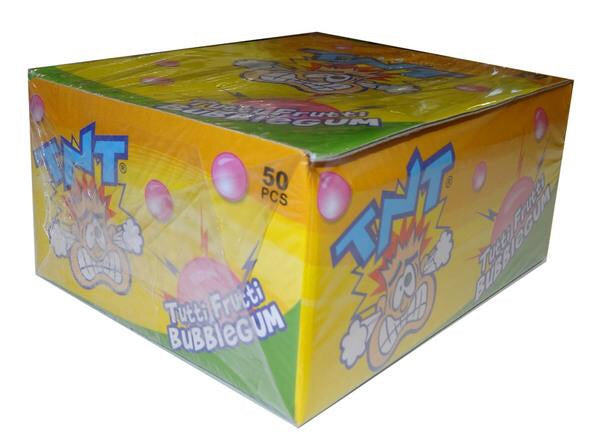 TNT Tutti Frutti Bubble Gum Sticks Box of 50