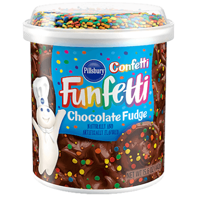 Funfetti Chocolate Fudge Frosting with Confetti Sprinkles