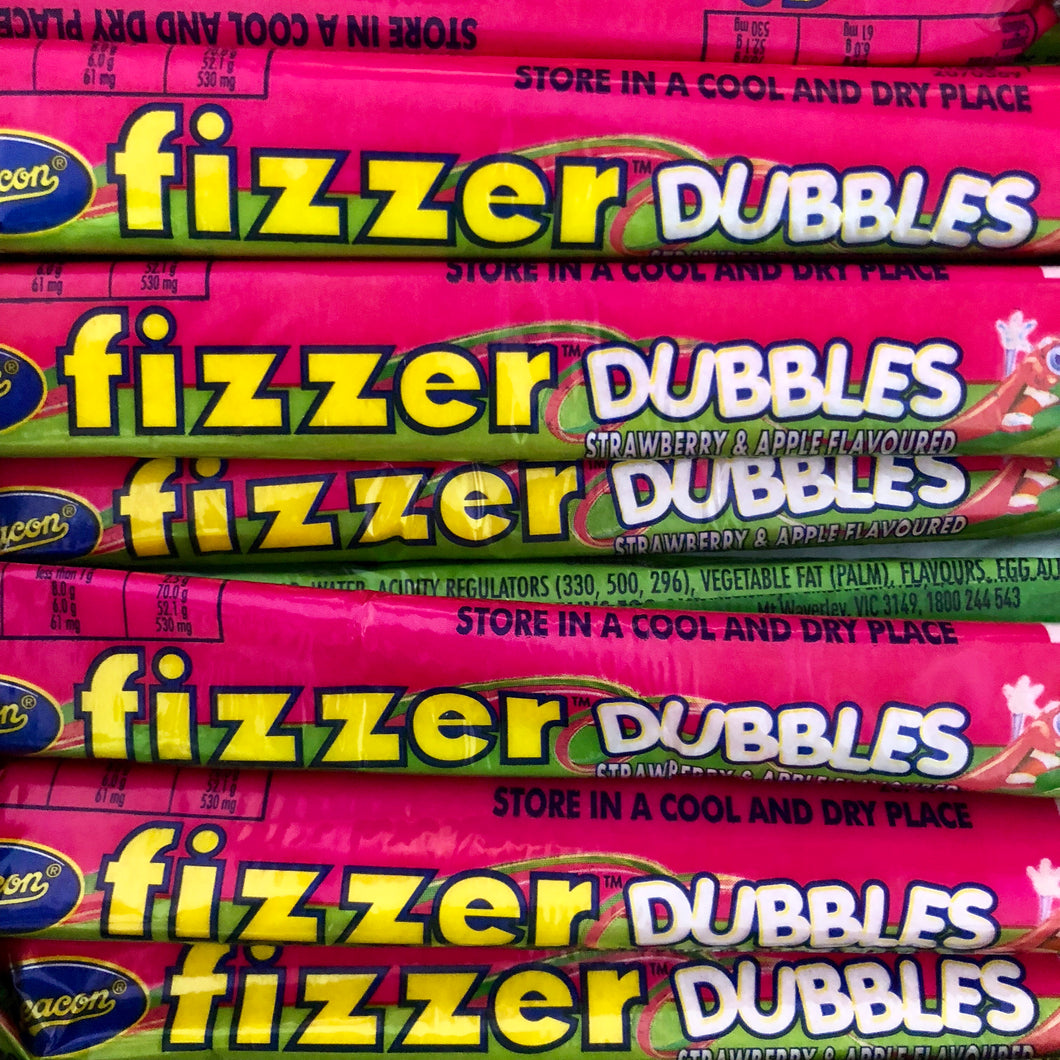Fizzer Dubbles Strawberry & Apple - each