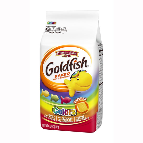 Goldfish Colours Cheddar 187g (6.6oz)