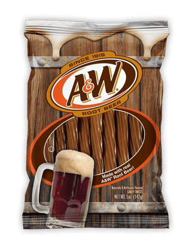 A&W Root Beer Candy Twists 142g bag