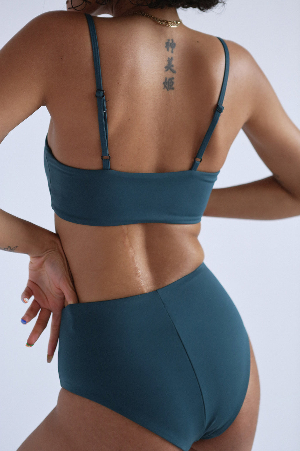 High Waist Bikini in Sage