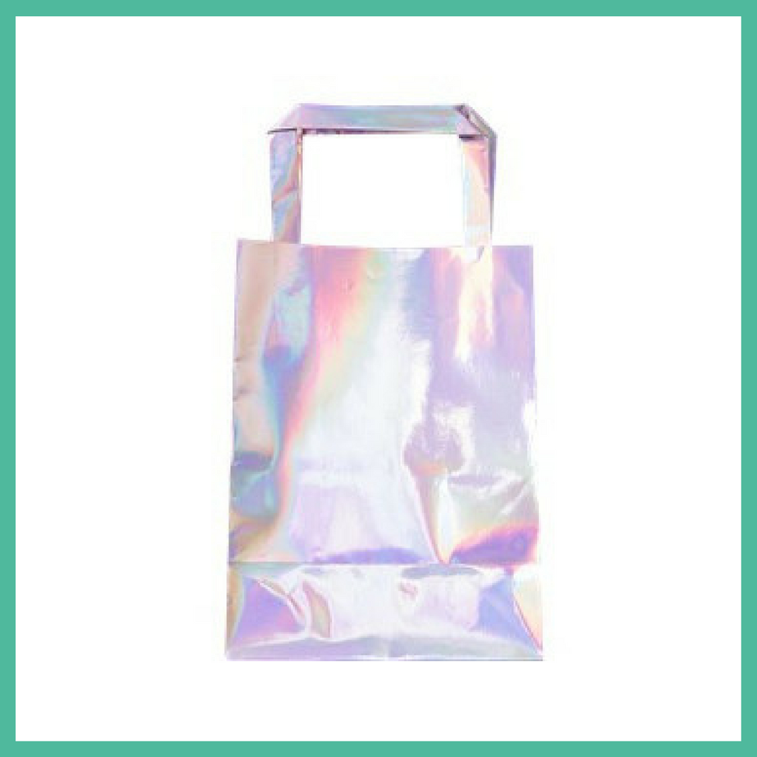 Iridescent Party Bags x 5