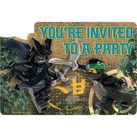 Lego Ninjago Party Invitations x 8