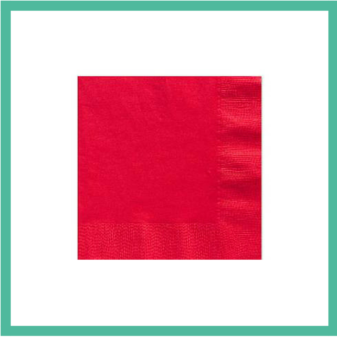 Red Napkins x 16