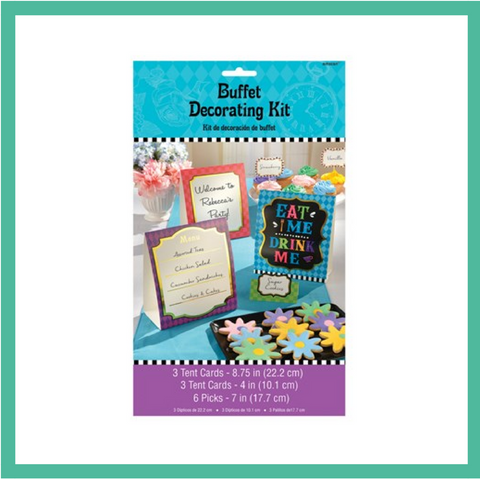 Mad Hatter's Tea Party Buffet Decorating Kit