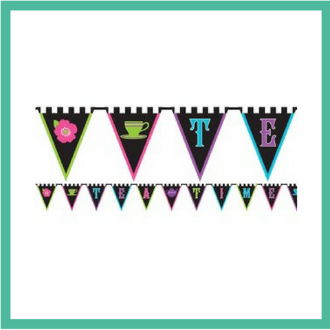 Mad Hatter Banner Bunting 3m