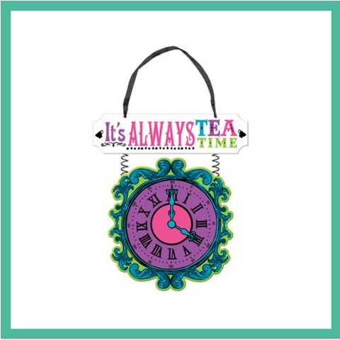 Mad Hatter's Tea Party Hanging Sign