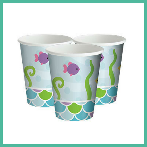 Mermaid Friends Party Cups x 8