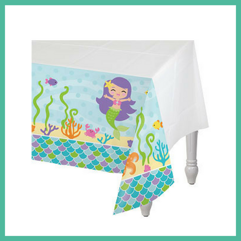 Mermaid Friends Party Table Cover