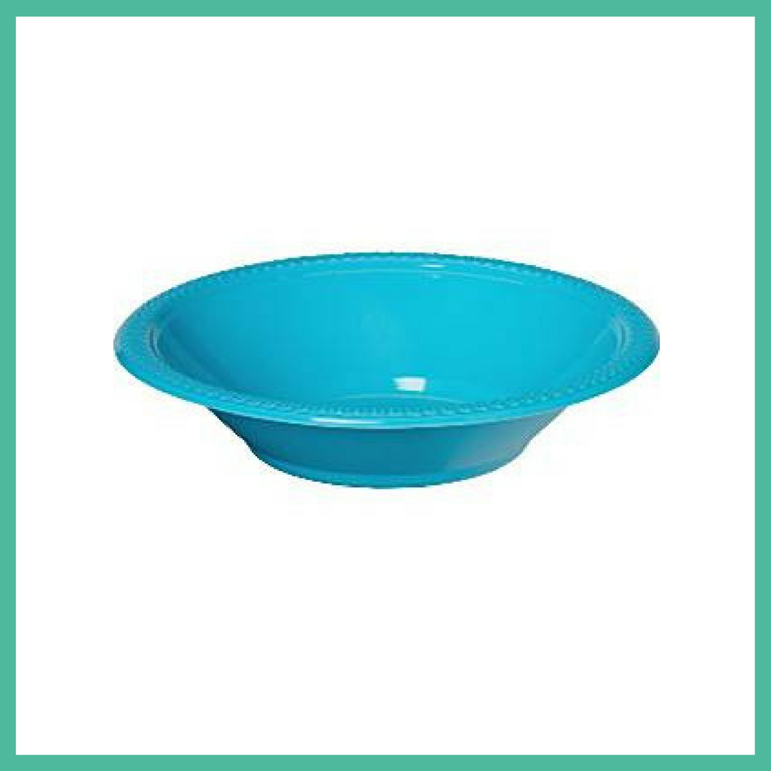 Mermaid Friends Turquoise Party Bowls