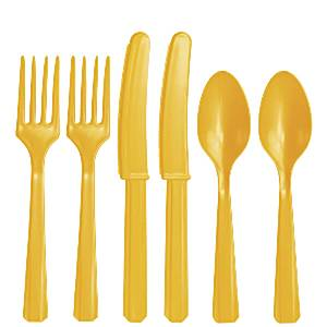 Yellow Cutlery Set 24pk