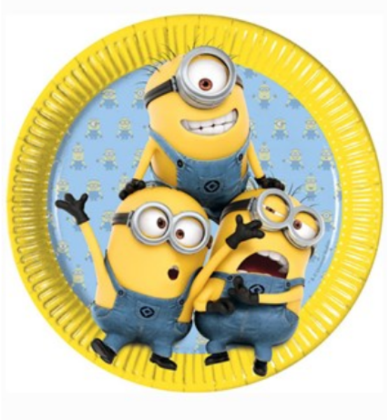 Minion Party Plates 23cm