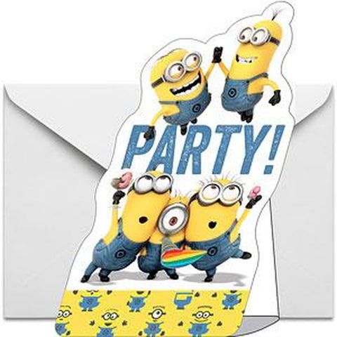 Minion Party Invitations 8pk