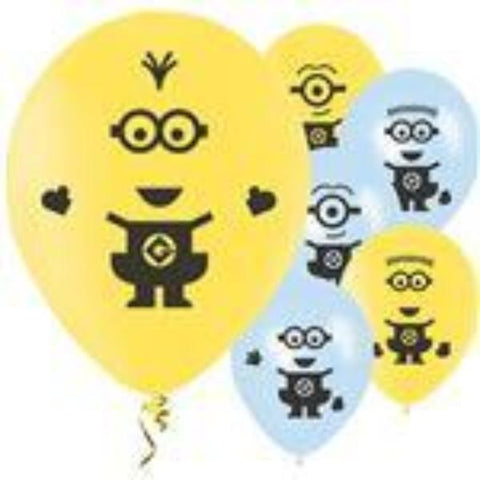 Minion Party Balloons 6pk
