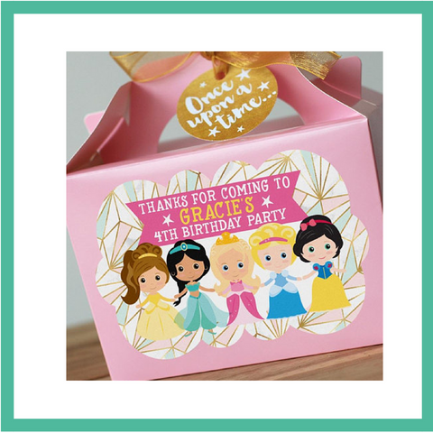 Princess Party Box - Personalised and Pre-filled