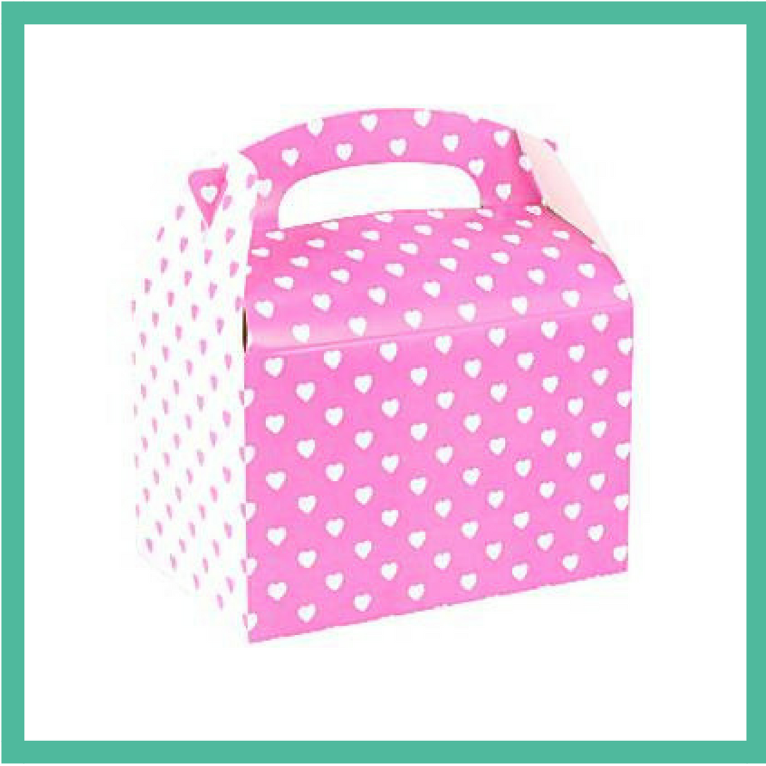 Pink and White Hearts Party Box