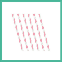 Paper Straws 24pk (Variety of colours)