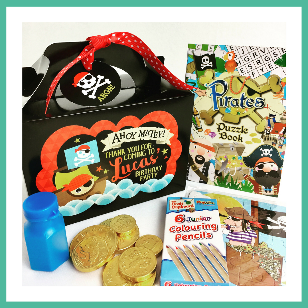 Pirate Party Box - Personalised and Pre-filled