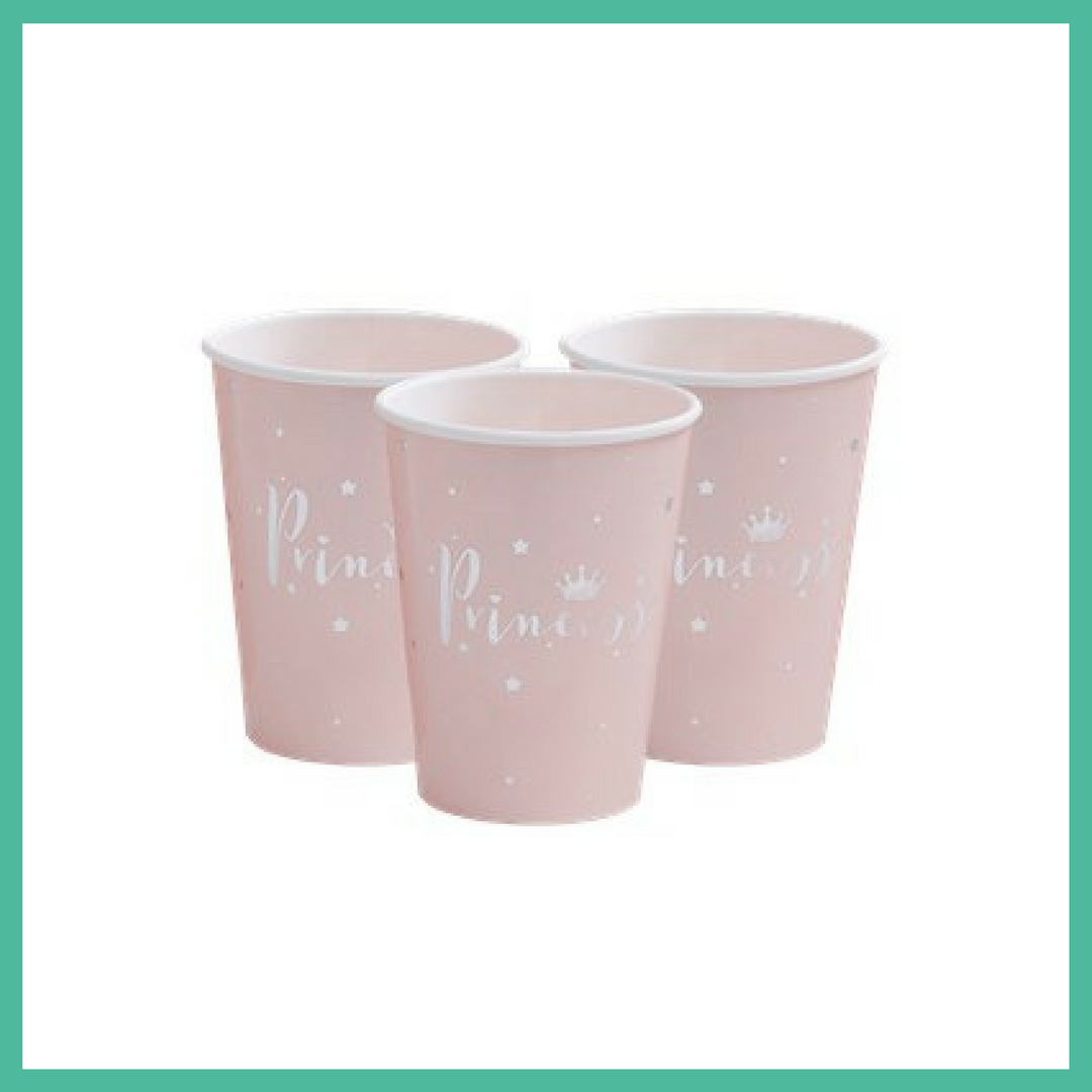 Princess Paper Party Cups