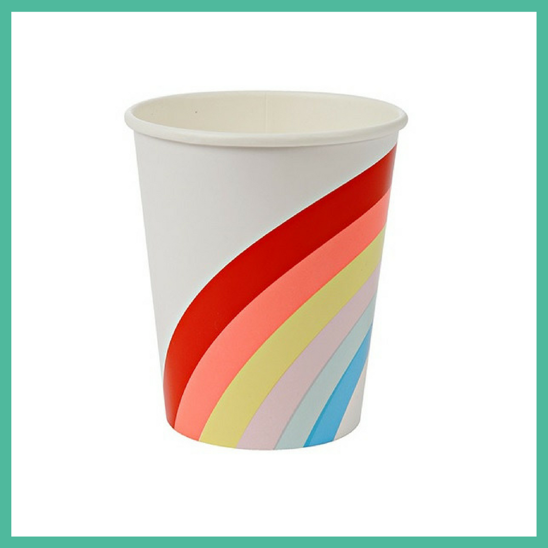 12 x Rainbow Party Cups