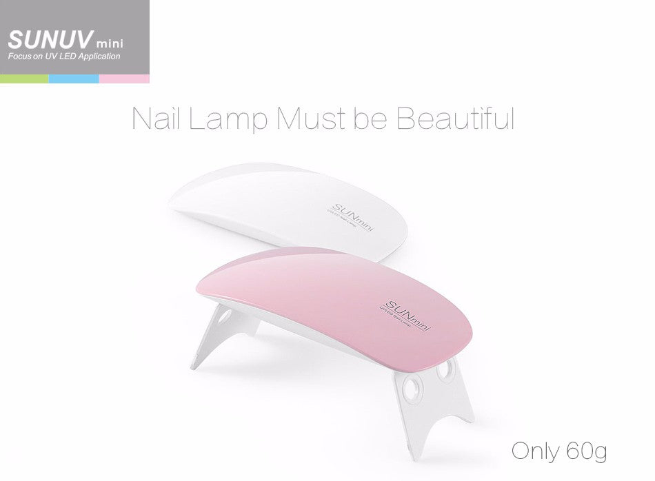 SUNmini 6w Small UV LED Nail Lamp