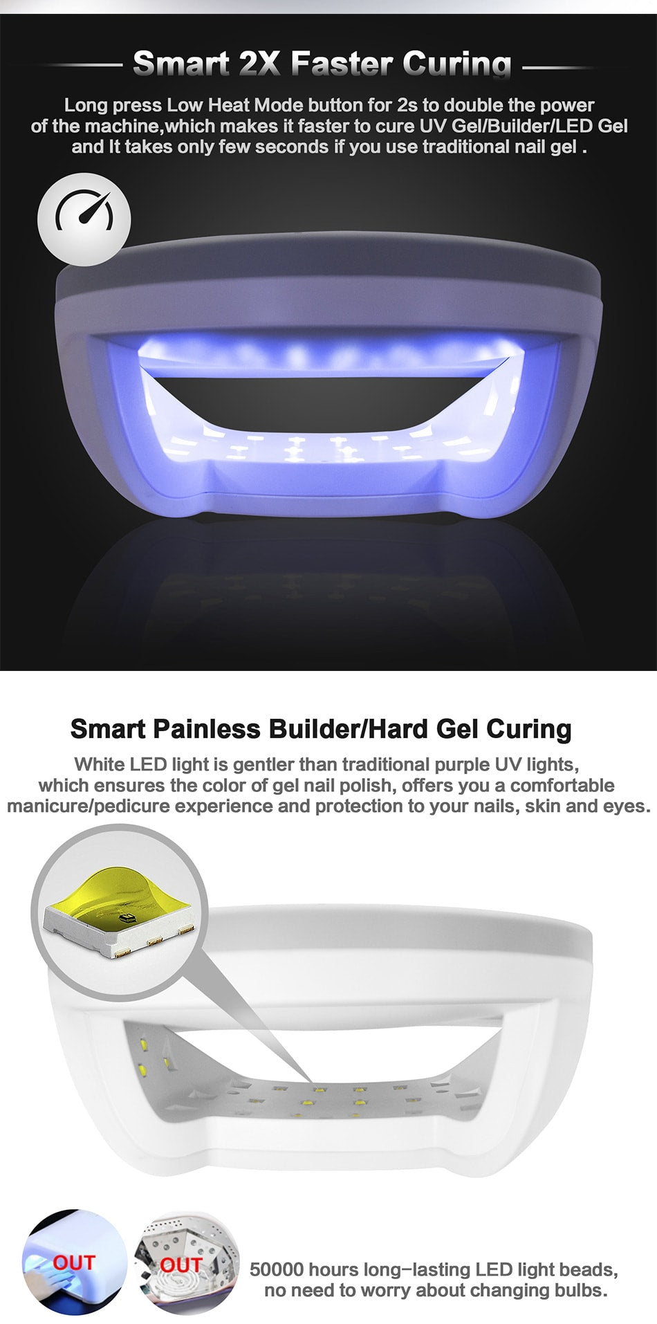 SUN7 48W Smart UV LED Nail Lamp