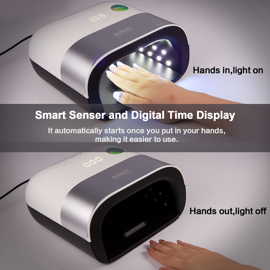 SUN3 48W Smart UV LED Nail Lamp