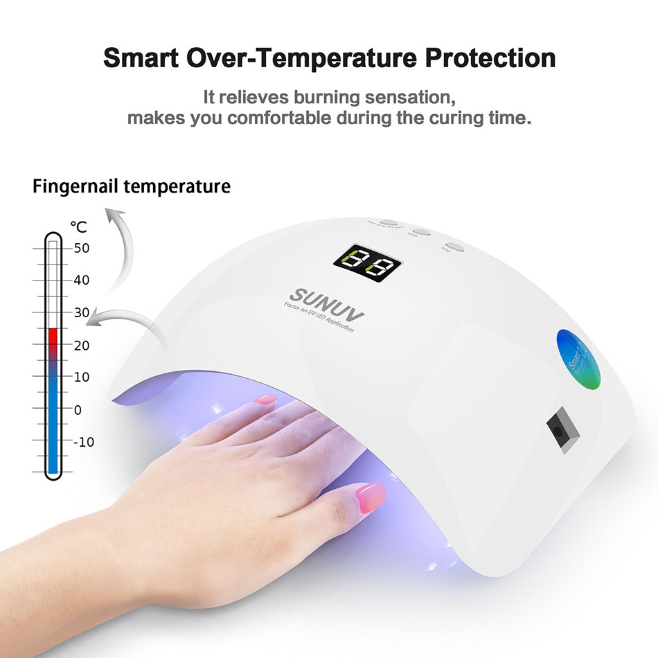 SUN8 48W Smart UV LED Nail Lamp