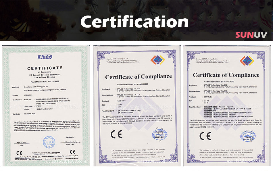 SUNUV Certification