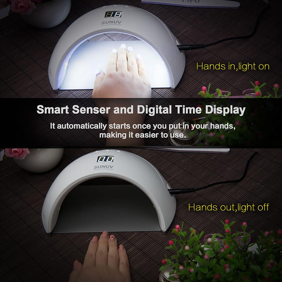 SUN6 48w Smart UV LED Nail Lamp