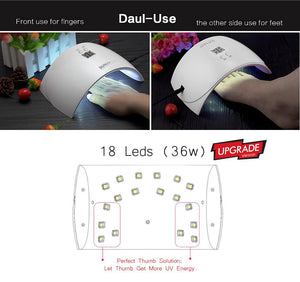 SUNUV SUN9X Plus 36W Professional UV LED Nail Lamp