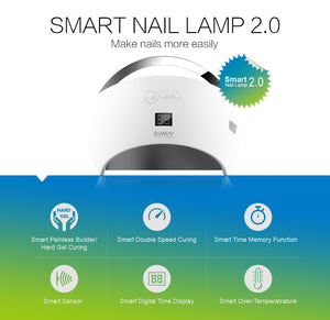 SUN6 48w Smart UV LED Nail Lamp - SUNUV Nail Lamp Store