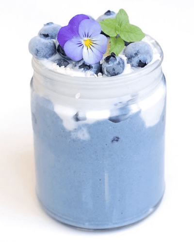 BLUE SPIRULINA FLAXSEED PARFAIT