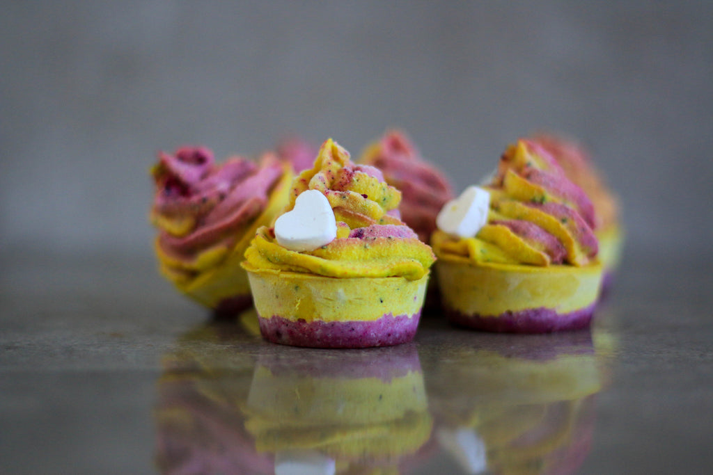 Pitaya and Passionfruit Raw Cheesecakes