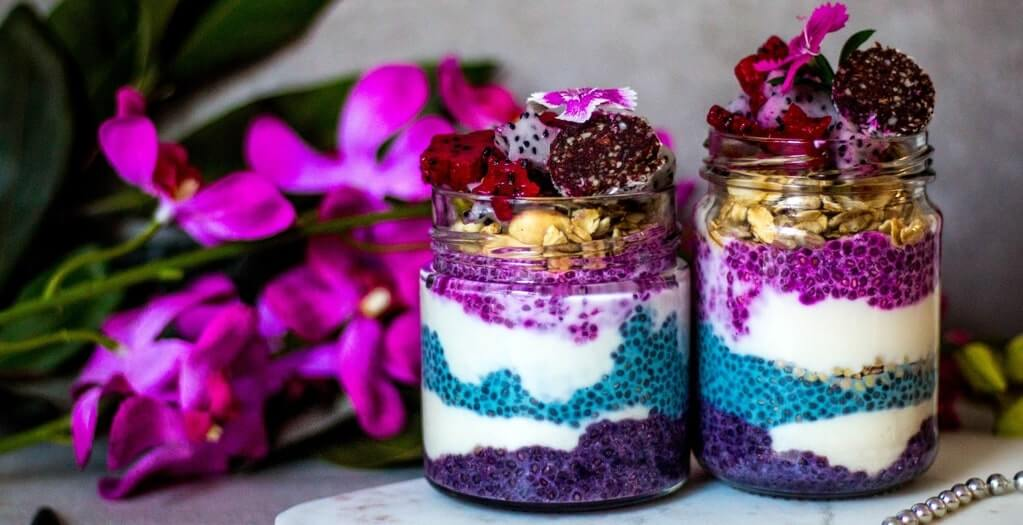 Rainbow Chia Pudding