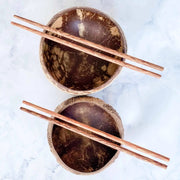 COCONUT BOWLS & CHOPSTICKS | JUST BLENDS