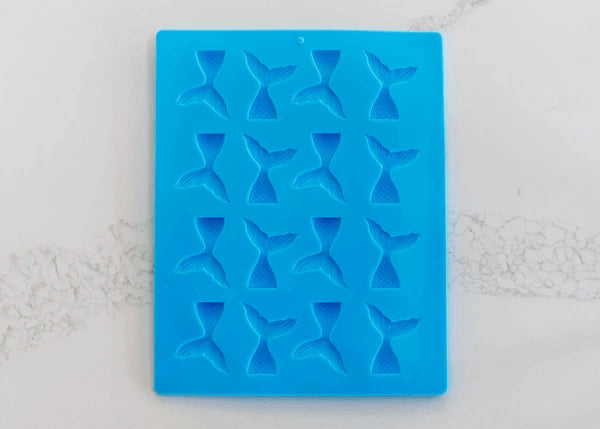 16 CAVITY MINI MERMAID TAILS SILICONE MOULD
