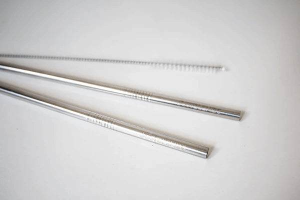 ECO STAINLESS STEEL STRAWS (2 pack + bonus cleaning brush)
