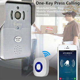 Ebell DBV01P Smartphone 3G 4G Wifi Video 720P Camera Intercom Doorbell PIR Night Vision IP Door Phone Unlock Function With App